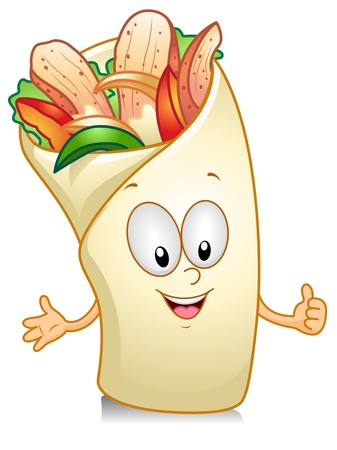 Illustration of a Tacos Character Giving a Thumbs Up