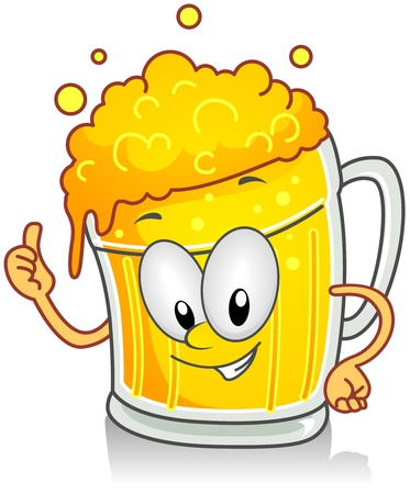Illustration of Beer Character Giving a Thumbs Up