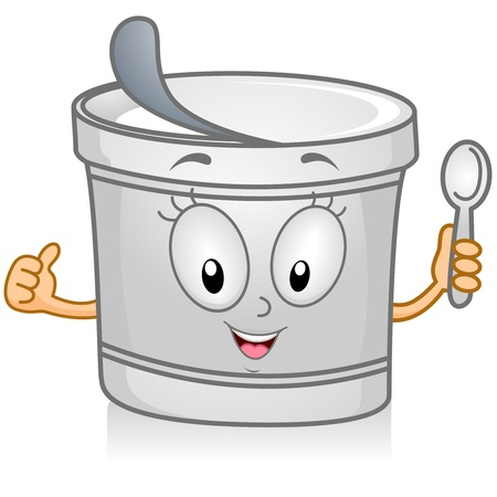 yogurt: Illustration of a Yogurt Character