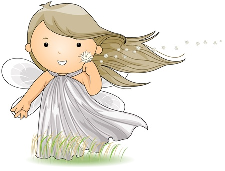 breezy: Illustration of a Wind Fairy Enjoying the Breeze
