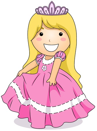 cosplay: Illustration of a Little Girl Wearing a Princess Costume