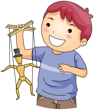 puppet: Illustration of a Young Puppeteer