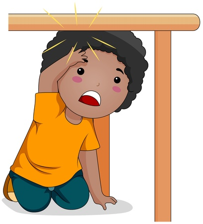 Illustration of a Kid Who Bumped His Head