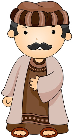 Illustration of a Man Dressed in an Arab Costume Stock Illustration - 8329119