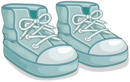 Illustration of a Pair of Baby Shoes