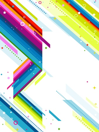diagonal lines: Illustration of Rainbow Colored Diagonal Lines Against White Background Stock Photo