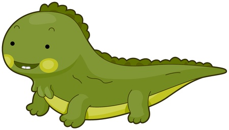 toothy: Illustration of a Cute Iguana Flashing a Toothy Smile