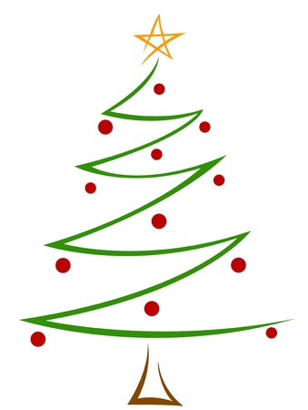 Christmas Design Featuring Zigzag Lines Shaped Like a Christmas Tree Stock Photo - 8360805