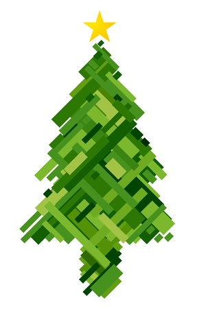 Christmas Design Featuring a Woven Pattern Shaped Like a Christmas Tree Stock Photo - 8360864