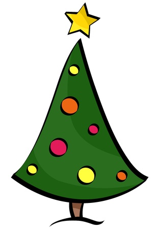 Retro Christmas Tree Design against White Background Stock Photo - 8360796