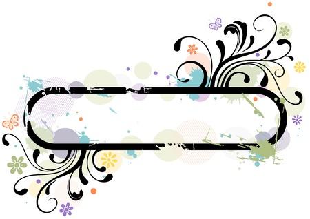 Illustration of a Frame with Floral Designs illustration