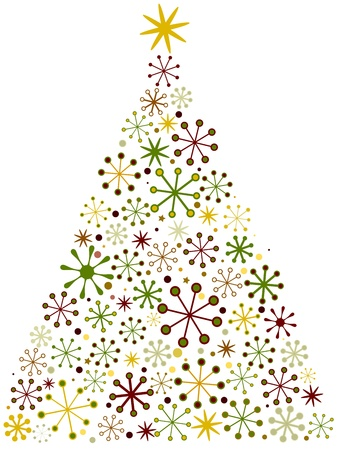 Christmas Tree Design With a Retro Look Stock Photo - 8492539