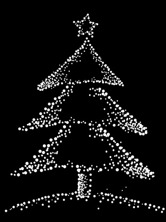 flecks: Christmas Tree Design Featuring Flecks of Snow Forming the Shape of a Christmas Tree