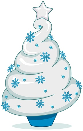 Christmas Tree Design Featuring a Sundae Shaped Like a Christmas Tree photo