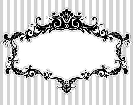 Illustration d'un cadre avec un style victorien