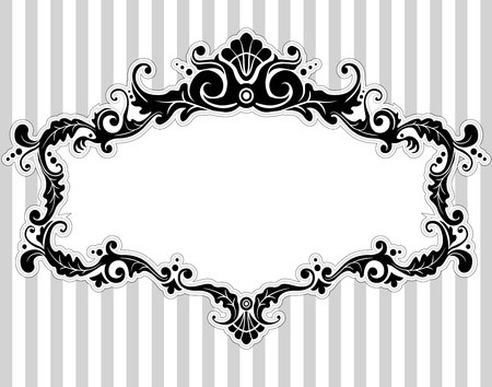 elegant frame: Illustration of a Frame with a Victorian Style