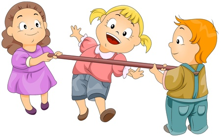 Illustration of Kids Playing the Limbo Rock Stock Illustration - 8614155