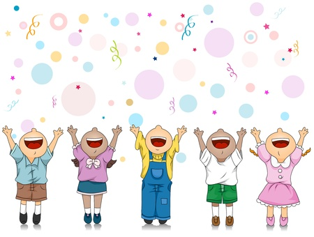 Illustration of Kids Celebrating a Special Occasion Stock Illustration - 8614168
