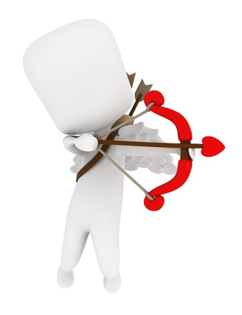 3D Illustration of Cupid Preparing to Release One of His Arrows Stock Illustration - 8756633