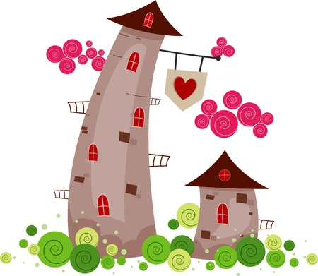 Illustration of Towers Standing Side by Side illustration