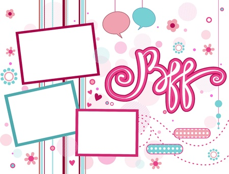 bff illustration of a frame featuring the acronym bff stock photo royalty free vector clip art