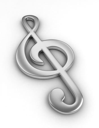 gclef: 3D Illustration of a Large G-Clef