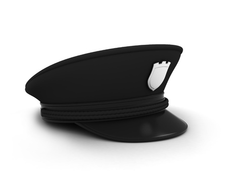 3D Illustration of a Police  Security Guard Cap illustration