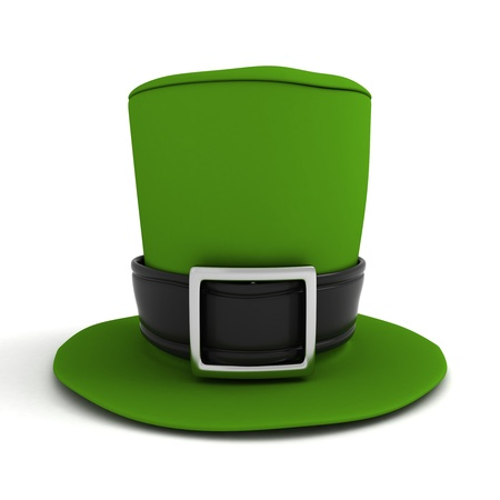 leprechaun's hat: 3D Illustration of a Leprechauns Hat