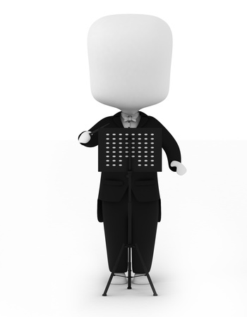 3D Illustration of a Music Conductor Stock Illustration - 8993545