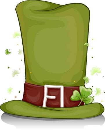 Illustration of a Leprechauns Hat for Background illustration