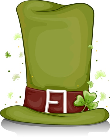 lucky charm: Illustration of a Leprechauns Hat for Background