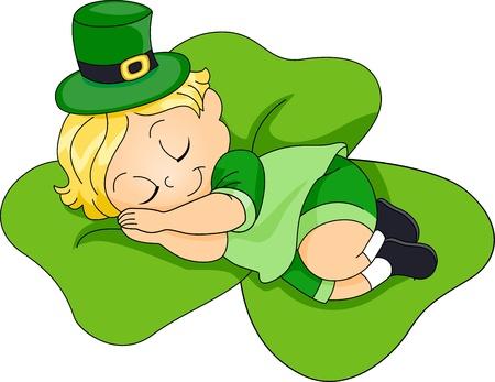 Illustration of a Child Soundly Sleeping illustration