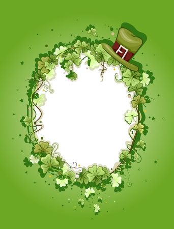 saint paddy's: Illustration of a Frame with a St. Patricks Day Theme