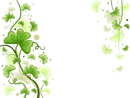 paddys: Background Design Featuring Shamrock Vines