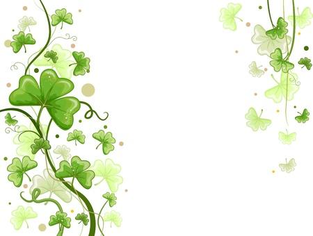 Background Design Featuring Shamrock Vines