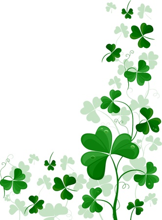 saint paddy's: Background Design Featuring Shamrock Vines