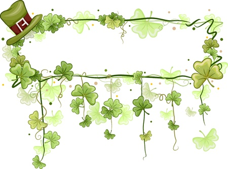 leprechaun's hat: Illustration of a Frame with a Saint Patricks Day Theme Stock Photo