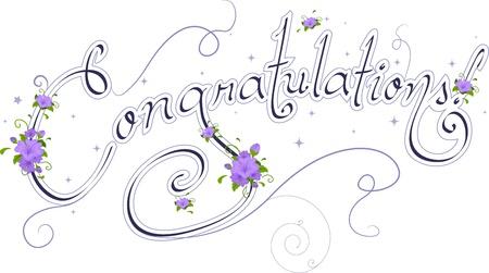 felicitaciones: La boda de texto con las palabra felicidades