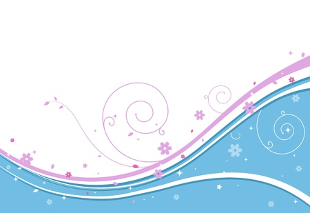 Illustration of a Wedding Background with an Abstract Design
