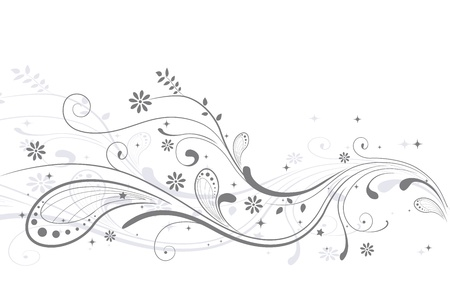 wedding backdrop: Illustration of a Wedding Invitation Decorated with Vines