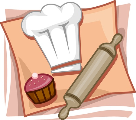 Illustration of Icons Representing Bakers illustration