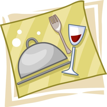 Illustration of Icons Symbolizing the Catering Business illustration