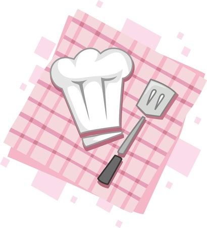 Illustration of Icons Representing Chefs illustration