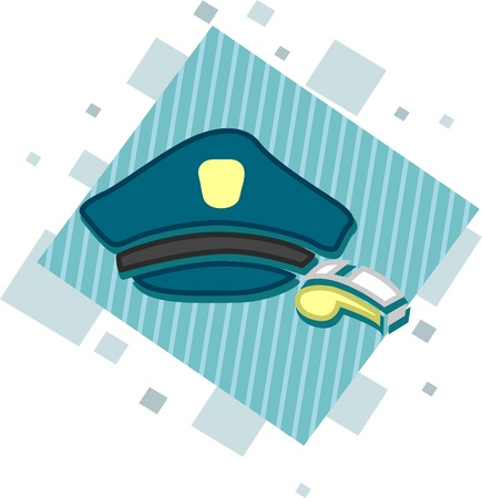 Illustration of Icons Representing Cops Stock Illustration - 9209246