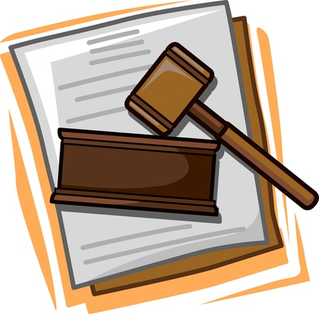 Illustration of Icons Representing Law illustration