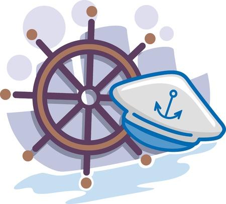 Illustration of Icons Representing Seamen