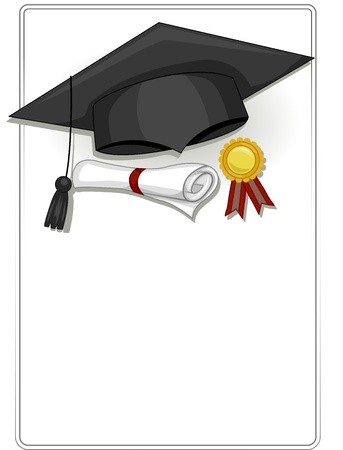 commencement exercises: Frame Design Featuring Graduation Related Items