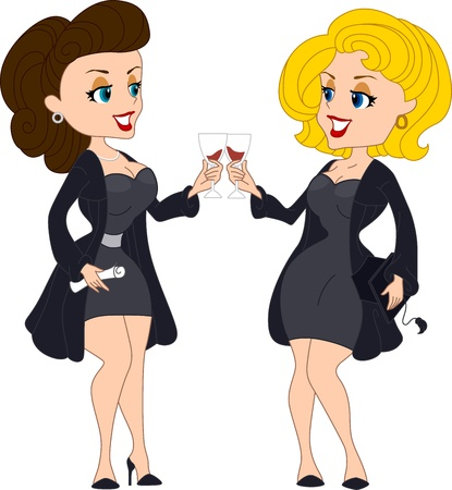 Illustration of Graduates Having a Toast Stock Illustration - 9256823