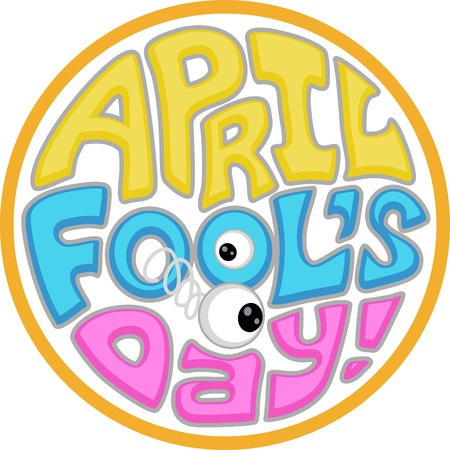 Illustration with an April Fools Day Icon illustration