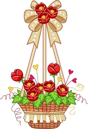 Illustration of a Hanging Flower Pot illustration